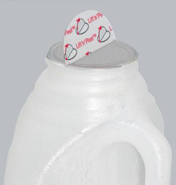 Milk bottle using Lift 'n' Peel induction seals