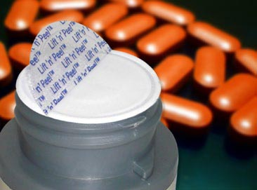 Pharmaceutical Bottle Using Lift 'n' Peel induction seals
