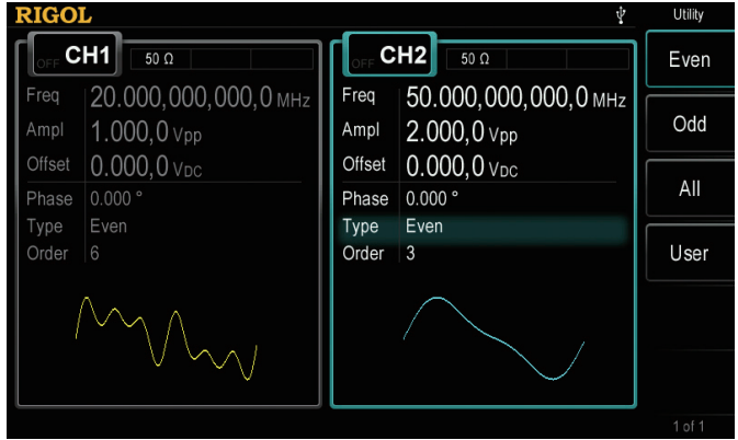 Simplify the creation of waves with multiple frequency components. Instead of combining waveforms in a software environment to load into a generator, create waves with multiple harmonics, power levels, and frequencies natively.