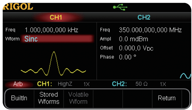 Reach your complete frequency range with waveforms up to 350MHz