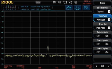 View lower powered signals (harmonics, interference sources) and ease trouble-shooting in swept and real-time mode.
