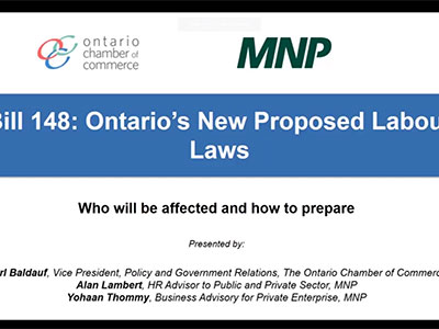 Webinar: Bill 148 - Ontario's New Labour Laws