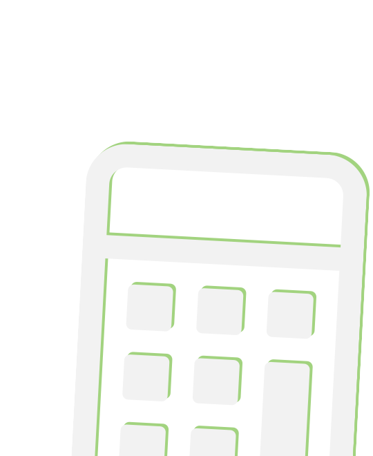 Large green calculator icon