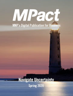 MPact spring 2020 cover photo of lighthouse