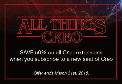 Limited Time Offer: Save 50% on Creo Extensions