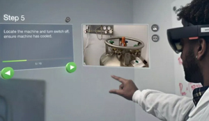 Empower front-line workers with hands-free AR procedures