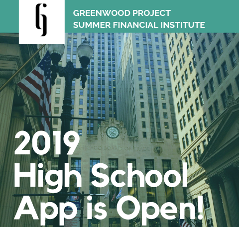 Greenwood Project is accepting applications for their summer financial institute