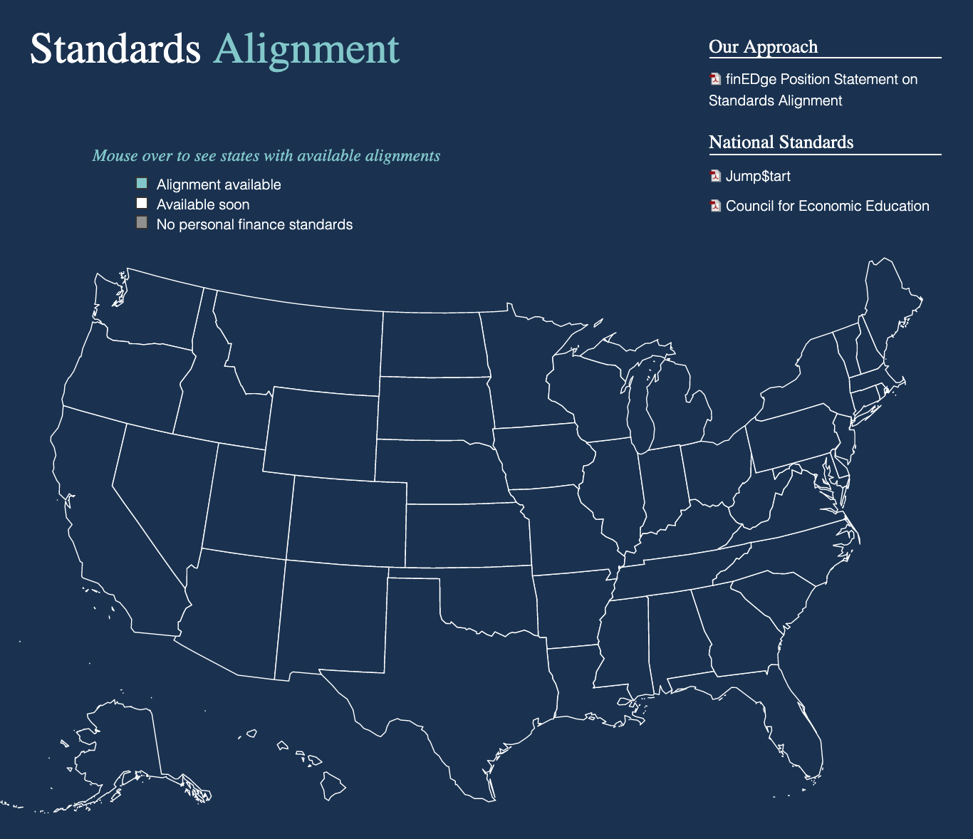 View how finEDge aligns to national and state standards.